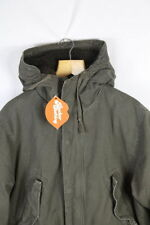 Unbranded Cotton Hooded Long Coats & Jackets for Men