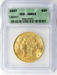 1907 Liberty Gold Double Eagle ICG MS-63