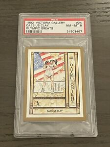 1992 Victoria Gallery Cassius Clay Olympic Greats #24 PSA 8 Low Pop 4 Better