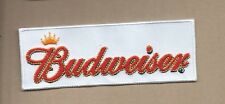 NEW 1 5/8 X 4 1/2 INCH BUDWEISER IRON ON PATCH FREE SHIPPING