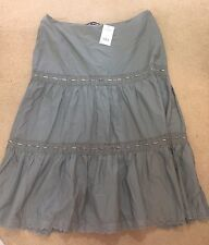 BNWT Evans Ladies Size 22 Maxi Long Grey Lace Chrochet Detail Summer Party New