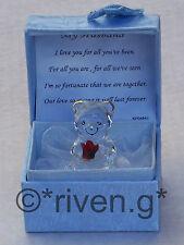 ORSO marito GIFT@MY Valentine@Cute Box@22KT Gold@ANNIVERSARY Set@Red regalo rosa