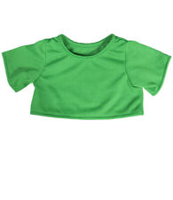 """Green T-Shirt Outfit Teddy Bear Clothes Fits Most 14""""-18"""" Build-a-bear and Make"""