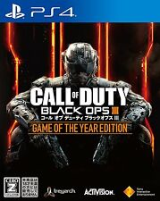 Call of duty Black OPS III GAME YEAR    SONY PS4 PLAYSTATION 4 JAPANESE VERSION