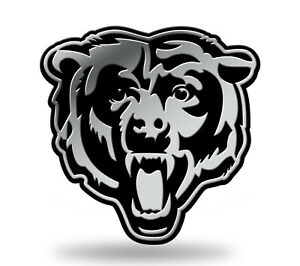 Chicago Bears Head Logo 3D Chrome Auto Decal Sticker NEW Truck Car Rico