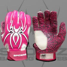 Spiderz HYBRID PINK/WHITE XXL ADULT BATTING GLOVES, NEW