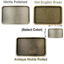 """Rectangular Buckle Blanks For Leather Craft 3 Colors Fits 1-1/2 """" Wide Belts"""
