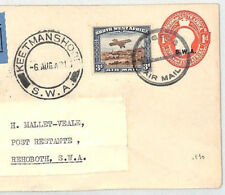 BL94 1931 South West Africa *SWA* Stationery KEETMANSHOOP Airmail Cover Rehoboth
