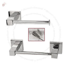 HAND TOWEL & TOILET PAPER TISSUE CHROME DISPENSER HOLDER STAND WITH FITTING UKDC