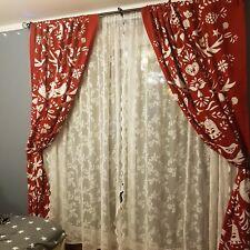 Christmas Curtains from Ikea fabric red White scandi handmade New 144x225cm