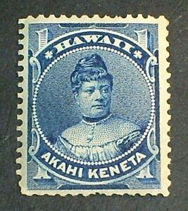 Hawaii Scott #37  Princess Likelike 1-cent 1882 Mint Hinged OG
