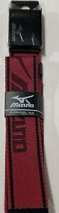 Mizuno Men's Golf Belt - Cut To Fit #899NC - Red / Black