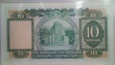 1983 Hong Kong Ten Dollars Hsbc Banknote Pcgs Graded 66 Ppq Gem Uncirculated