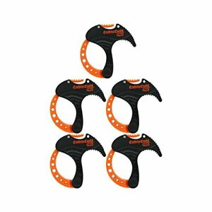 Cable Cuff PRO 5 Pack: 5x Small 1 Inch Diameter Adjustable, Reusable, Cable Tie
