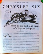 Vintage 1930 magazine ad for Chrysler - Heir to 6 Brilliant Years, Coupe picture