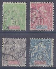 Colonies françaises  - Nouvelle Calédonie - n° 59 à 62 oblitérés