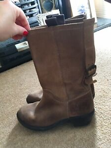 Fly London Tan leather Boots - Size 5