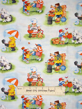 BBQ Grill Man Fabric 100% Cotton By The Yard Elizabeth's Studio Its A Guy Thing