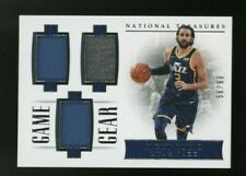 2017-18 National Treasures Game Gear Ricky Rubio Triple Jersey 56/99 Jazz