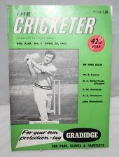 The Cricketer - 28th April 1962, Vol. XLIII No.1