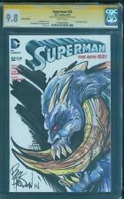 Superman 32 CGC SS 9.8 Doomsday Justice League 2018 Movie Original art Sketch