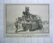 1917 Fixing Flag To Wire Rope Of Kite Balloon Travelling Motor Winch