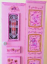 Storage Cabinet Handpainted Handmade pink Front Door 69X20X17 cm (shabby chic)