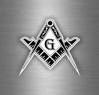 Sticker car moto biker decal bumper flag masonic freemason emblem r1