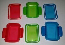 6 count Lock-Top Plastic Snack Containers Lids Mix & Match You Choose Stackable