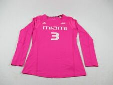 adidas Miami Hurricanes - Pink Long Sleeve Shirt (L) - Used
