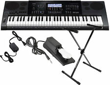 Casio CTK-7200 61-Touch Sensitive Key Keyboard Bundle w/Stand,Adapter,Pedal