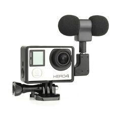 External Microphone Mic + Border Frame Case Kit + Adapter for Gopro Hero 4 3+ 3
