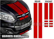 Ford Transit CUSTOM bonnet & rear door racing stripes graphics stickers decals
