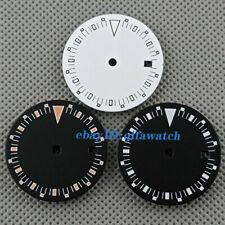 29mm luminous black white sterile dial Fit ETA 2824 2836 Miyota 8215 Movement