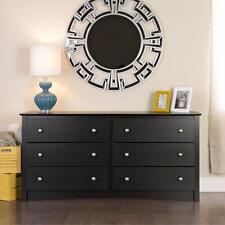 Sonoma 6 Drawer Dresser Black Bedroom Furniture NEW