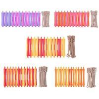 12pcs Perm Bar Set Rubber Band Hair Curler Hairdressing Tool(Random Color) WT7n