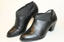 Vionic Point Womens 7 38 Black Leather Booties Chelsea Ankle Boots