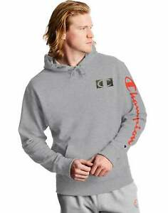 Champion Men's Athletics Powerblend Fleece Hoodie, C Camo Logo