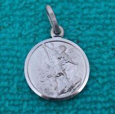 St Saint Michael Archangel Sterling Silver 925 Christian Pendant Charm 0.7 inc