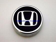 "Honda Chrome Black Metal Wheel Center Cap Odyssey Hub Rim Genuine OEM 2 5/8"""