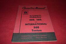 International Harvester Farmall 460 560 Tractor Operator's Manual BWPA