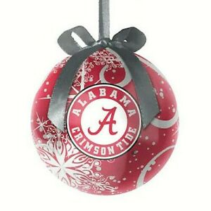 Alabama Crimson Tide NCAA Decoupage Ball  Christmas Ornament
