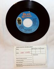 "JERRY COOPER CODE OF HONOR 7"" RECORD-45 RPM-COUNTRY,FOLK-BEAR RECORDS"