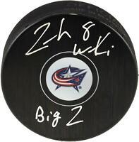 Zach Werenski Columbus Blue Jackets Signed Hockey Puck w/ Big Z Insc - Fanatics