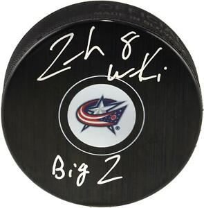 Zach Werenski Columbus Blue Jackets Signed Hockey Puck w/ Big Z Insc - Fanatics