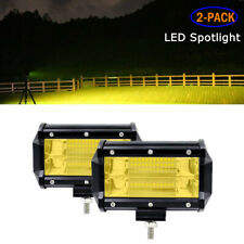 Modified 2X72W Car Double Row LED Spot Light Work Headlights Reflector Lens