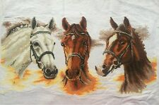 "New Completed finished cross stitch""Three Horses""home decor gifts"