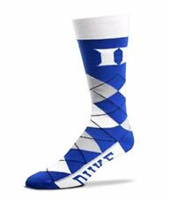 NCAA Duke Blue Devils Argyle Unisex Crew Cut Socks - One Size Fits Most