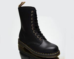 Dr. Martens Vegan 1490 Black Felix Rub Off Unisex Men's Women's Shoes