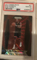 HOT🔥 2017 Panini Prizm Ruby Wave Bam Adebayo ROOKIE RC #51 PSA 10 Miami Heat 📈